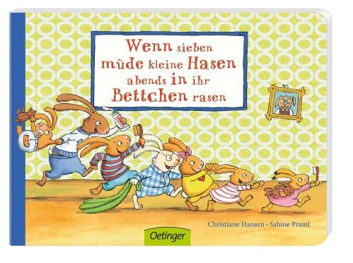 Wenn sieben müde kleine Hasen abends in ihr Bettchen rasen 2+j