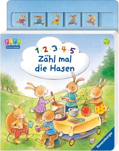 Ravensburger 1, 2, 3, 4, 5 - Zähl mal die Hasen Bilderbuch 2+j