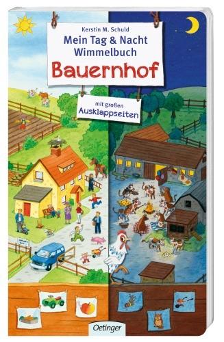 Mein Tag und Nacht Wimmelbuch Bauernhof 2+j B-Ware