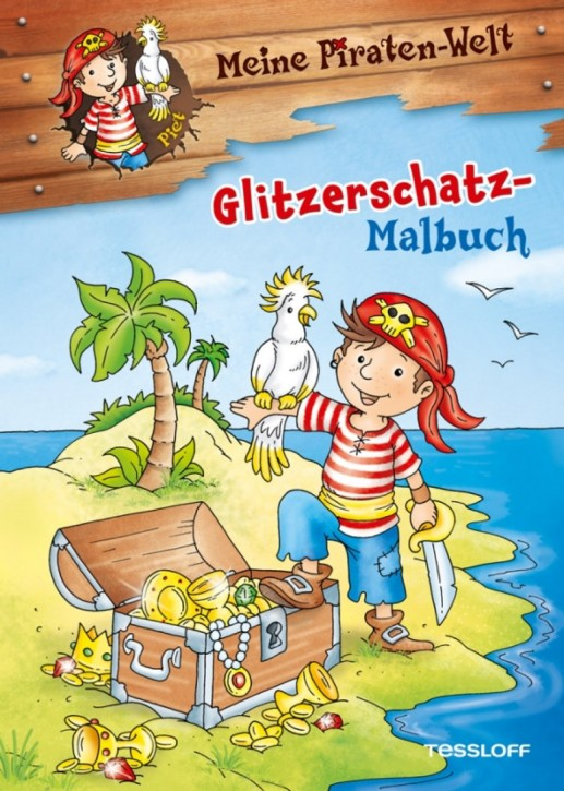 Tessloff Piraten Glitzerschatz-Malbuch