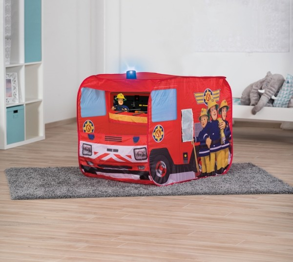 Spielzelt Feuerwehrmann Sam Feuerwehrauto  mit Blaulicht