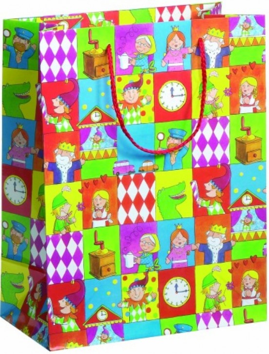 Geschenktasche Ganzjahr Motiv Puppentheater Midi