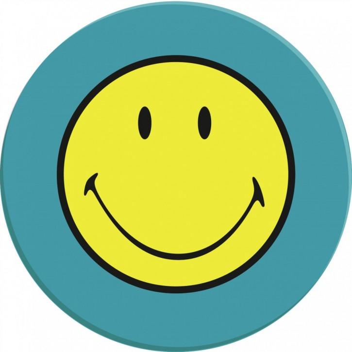 Smiley Teller aqua blau  20 cm