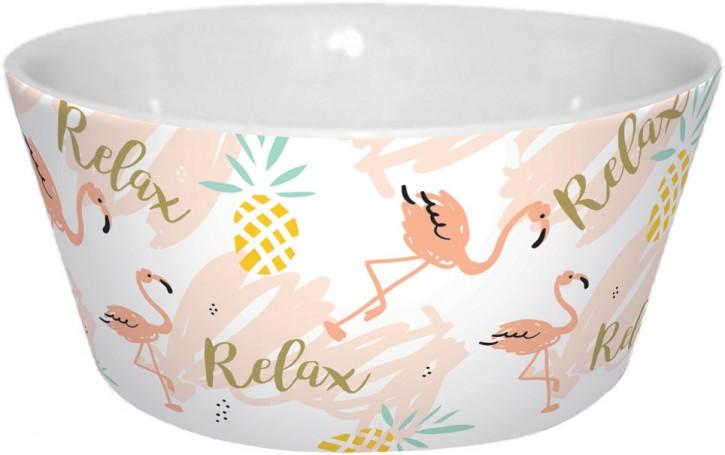 Flamingo Müsli-Schale Relax Porzellan