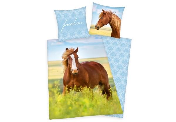 Pferde Bettwäsche, 135x200 u 80x80