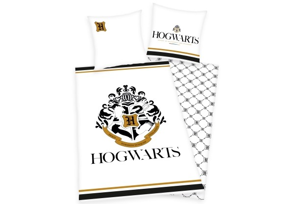 Harry Potter Hogwarts Bettwäsche Golddruck 135x200 u 80x80