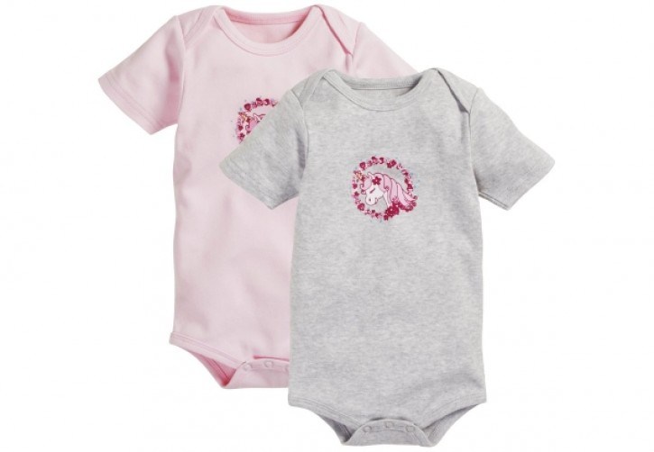 2erSet BabyBodys Einhorn Gr. 74-80 100% Baumw.