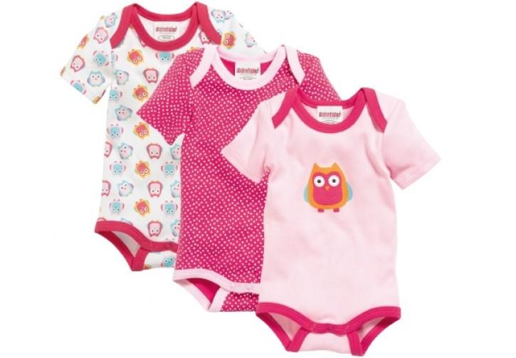 3erSet BabyBodys Eule Gr. 62-68 100% Baumw.