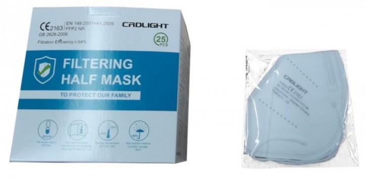 Cadlight Mund-Nasen-Schutzmaske FFP2 25 Stück