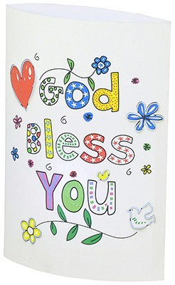 God bless you LED-Papierlampe