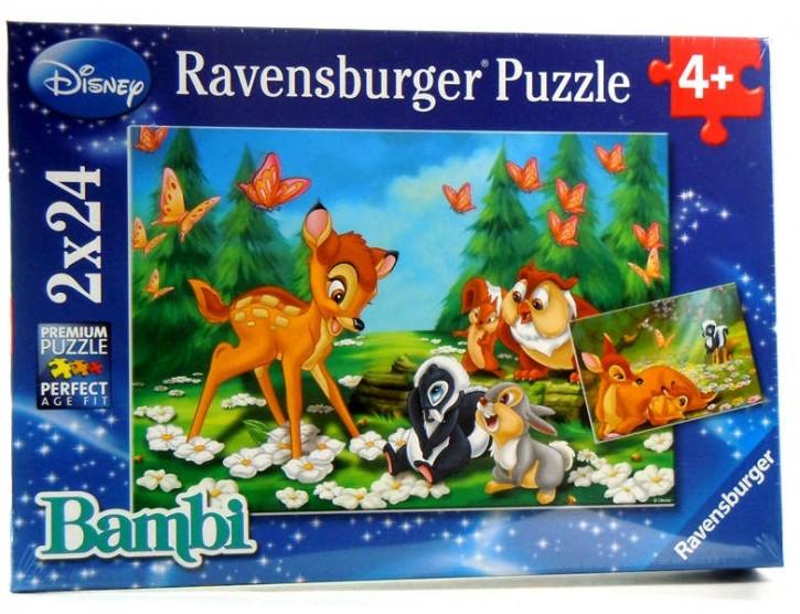 Ravensburger Puzzle Mein Freund Bambi 2 x 24