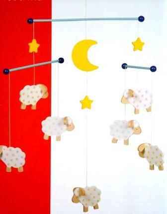 Mobile Schafe Mond Sterne Babymobile