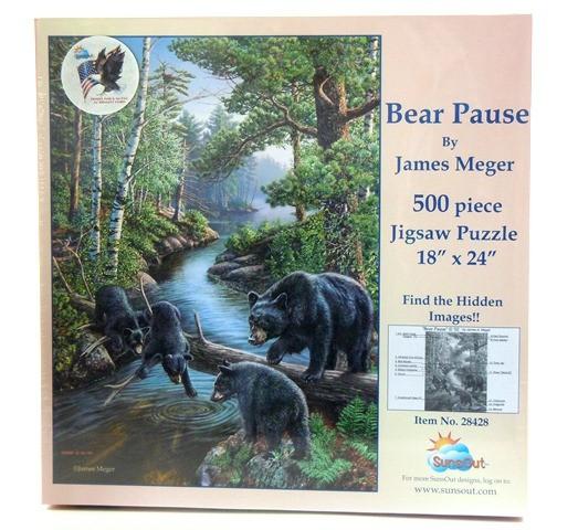 Puzzle 500 Bärenpause Tierpuzzle