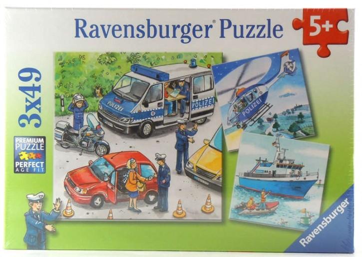 Ravensburger Puzzle Polizeieinsatz 3 x 49 B-Ware OVP