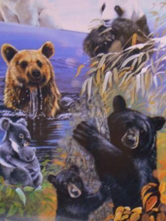 Puzzle 500 Bären der Welt Tierpuzzle