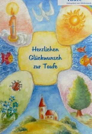 Grusskarte Taufe Glückwunschkarte