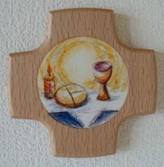 Kinderkreuz Buche Brot und Wein