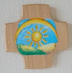 Kinderkreuz Buche Sonne