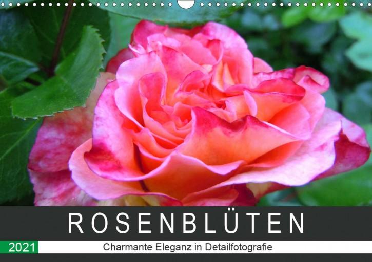 Tischkalender Rosenblüten 2021 DIN A5 Querformat