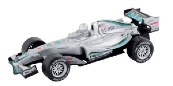 Speed Zone Formel 1 Flitzer Licht & Sound silber 15 cm