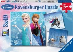 Ravensburger Puzzle Disney Die Eiskönigin Abenteuer im Winterland 3x49