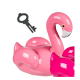 Keramikspardose Flamingo mit Schloss rosa