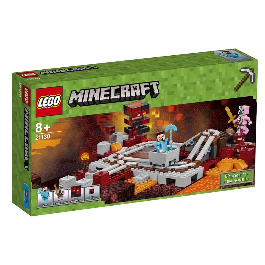 LEGO Minecraft Die NetherEisenbahn - Minecraft spielen lego
