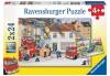 Ravensburger Puzzle Bei der Feuerwehr 2 x 24