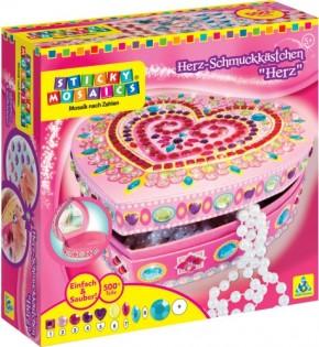 Sticky Mosaics: Heart Box Herz Schmuckkästchen