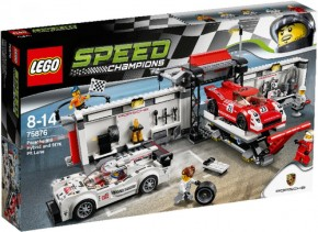 LEGO Speed Champions 75876 Speed Porsche 919 Hybrid & 917K Pit Lane