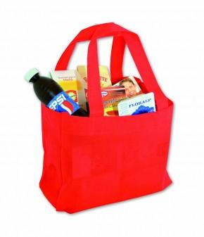 Kaufladen Einkaufstasche rot gefüllt