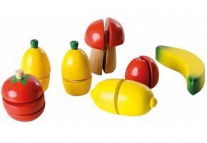 Früchte- & Gemüse Spielset aus Holz zum Schneiden
