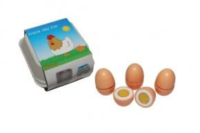 Tanner Kaufladenartikel Eier zum Schneiden aus Holz