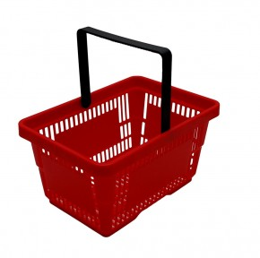 Supermarkt Korb rot für Kaufladen