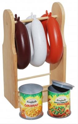 Tanner Kaufladenartikel Wurstständer 6tlg
