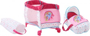 My little Pony Puppen-Reisebett 2in1 Hauck B-Ware OVP