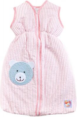 Heless Puppen-Schlafsack 50 cm rosa Streifen