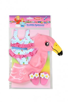 Heless Puppen-Schwimmset Flamingo Ella Gr 35-45 cm