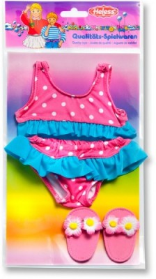 Heless Puppen-Bikini mit Bade-Schläppchen Gr.35-45cm