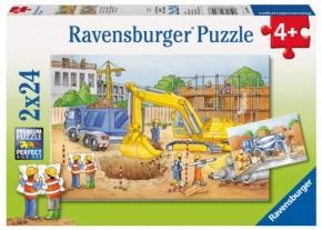 Ravensburger Puzzle Vorsicht Baustelle 2 x 24