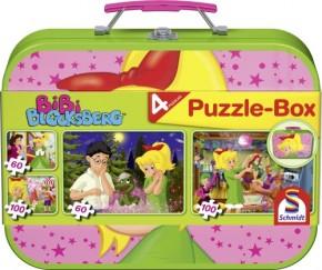 Puzzle Bibi im Metallkoffer 2x60+2x100 Teile