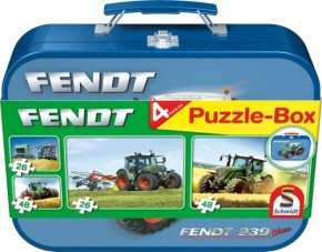Puzzle Fendt im Metallkoffer 2 x 26 Teile, 2 x 48 Teile