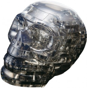 Puzzle 3D Crystal Schädel schwarz 49 Teile
