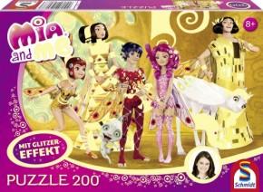 Puzzle Mia and me Im Elfenpalast 200 Glitzer