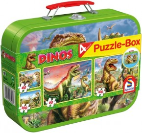 Puzzle Dinosaurier Metallkoffer 2x60+2x100 Teile