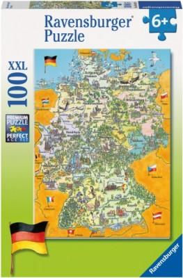 Ravensburger Puzzle Bunte Deutschlandkarte 100