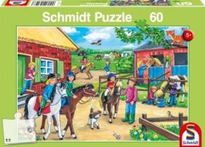 Puzzle Ferien auf dem Reiterhof 60 Teile