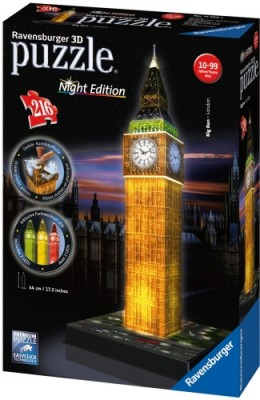 Ravensburger 3D Puzzle Big Ben Night Edition mit LED