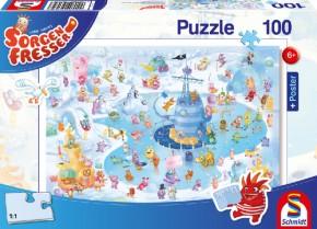 Puzzle Sorgenfresser Winterspaß 100 Teile ab 6 J.