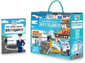 Puzzle Der Flughafen 205T + Buch B-Ware OVP